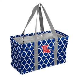 Louisiana Tech Crosshatch Picnic Tailgate Caddy Tote Bag