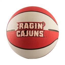 Louisiana Lafayette Mini-Size Rubber Basketball
