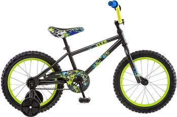 Pacific Boy's Flex Bicycle, Black 16 in.