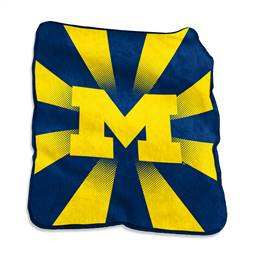 University of Michigan Wolverines Raschel Throw Blanket