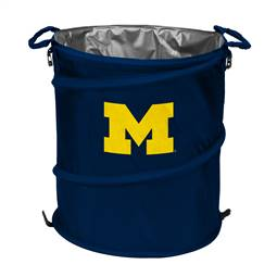 University of Michigan Wolverines 3-IN-1 Cooler Trash Can Hamper