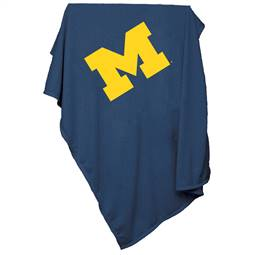 University of Michigan Wolverines Sweatshirt Blanket
