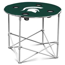 Michigan State University Spartans Round Folding Table with Carry Bag