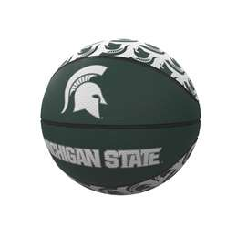 Michigan State University Repeating Logo Mini-Size Rubber Basketball