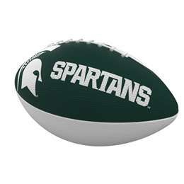 Michigan State University Combo Logo Junior-Size Rubber Football