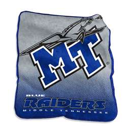 Middle Tennessee State University MTSU Raschel Throw Blanket