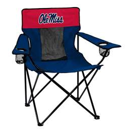 Ole Miss Rebels University of Mississippi Elite Folding Chair with Carry Bag