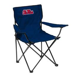 Ole Miss Rebels University of Mississippi Quad Folding Chair with Carry Bag