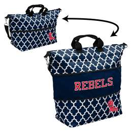 Ole Miss University of Mississippi Quatrefoil Expandable Tote
