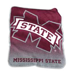 Mississippi State University Bulldogs Raschel Throw Blanket