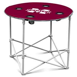 Mississippi State University Bulldogs Round Folding Table with Carry Bag