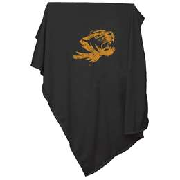University of Missouri Tigers Sweatshirt Blanket Screened Print