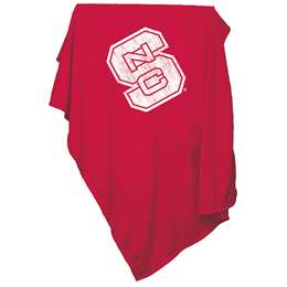 North Carolina State University Wolfpack Sweatshirt Blanket Screened Print