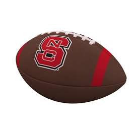 North Carolina State University Team Stripe Official-Size Composite Football