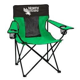 North Texas State University Mean Green Elite Chair - Tailgate Camping Folding