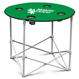 Louisiana Tech Round Folding Table with Carry Bag