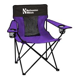 Northwestern University Wildcats Elite Folding Chair with Carry Bag