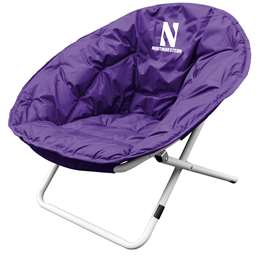 Northwestern University Wildcats Sphere Chair - Folding Dorm Room Tailgate
