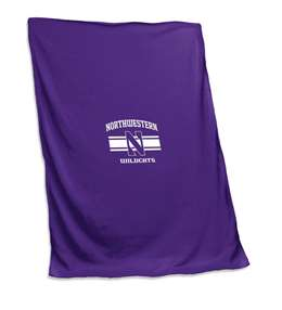 Northwestern University Wildcats Sweatshirt Blanket