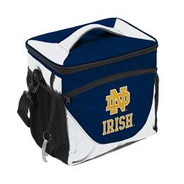 Notre Dame Navy/White 24 Can Cooler