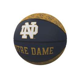 Notre Dame Repeating Logo Mini-Size Rubber Basketball