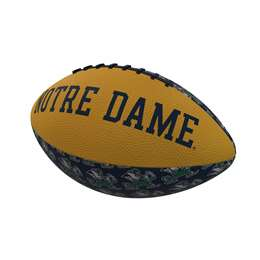 Notre Dame University Fighting Irish  Repeating Mini-Size Rubber Football