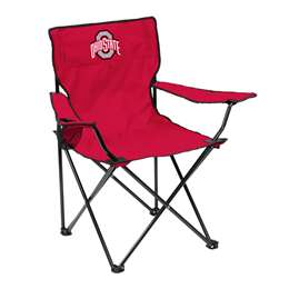 Ohio State University Buckeyes Quad Folding Chair with Carry Bag