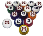 Mississippi State  Collegiate Billiard Pool Ball Sets