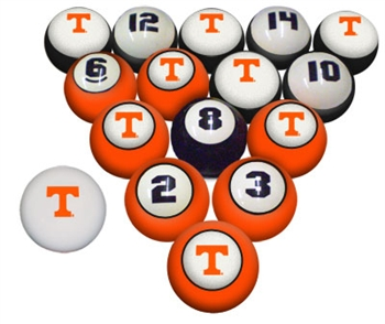 Tennessee NCAA Collegiate Billiard Pool Ball Sets