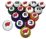 Wisconsin NCAA Collegiate Billiard Pool Ball Sets