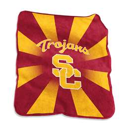 USC University of Southern California Trojans Raschel Throw Blanket