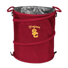 USC University of Southern California Trojans 3-IN-1 Cooler Trash Can Hamper