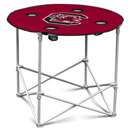 University of South Carolina Gamecocks Round Folding Table with Carry Bag