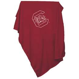 University of South Carolina Gamecocks Sweatshirt Blanket Screened Print