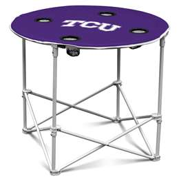 TCU Texas Christian University Horned Frogs Round Table Folding Tailgate