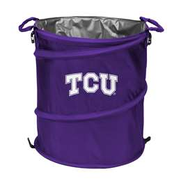 TCU Texas Christian University Horned Frogs 3-IN-1 Cooler Trash Can Hamper