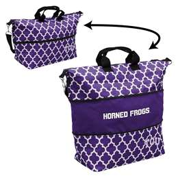 TCU Texas Christian University Horned Frogs Expandable Carry Tote Bag