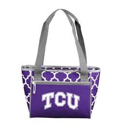 TCU Texas Christian University Horned Frogs 16 Can Cooler Tote Bag