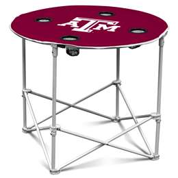 Texas A&M Aggies Round Folding Table with Carry Bag