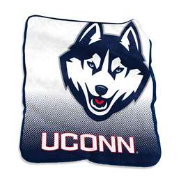 University of Connecticut Huskies Raschel Throw Blanket