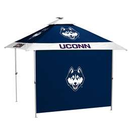 University of Connecticut Huskies 10 X 10 Pagoda Canopy Tailgate Tent With Side Panel