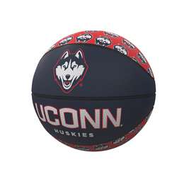 University of Connecticut Repeating Logo Mini-Size Rubber Basketball