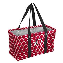 University of Utah UtesCrosshatch Picnic Tailgate Caddy Tote Bag