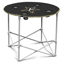 Vanderbilt University Comodores Round Folding Table with Carry Bag
