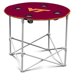 Virginia Tech Hokies Round Folding Table with Carry Bag
