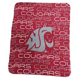 Washington State University Cougars Classic Fleece Blanket