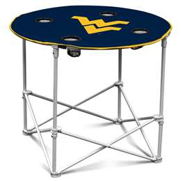 University of West Virginia Mountaineers Round Folding Table with Carry Bag