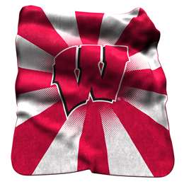 University of Wisconsin Badgers Raschel Throw Blanket