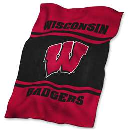 University of Wisconsin Badgers UltraSoft Blanket - 84 X 54 in.