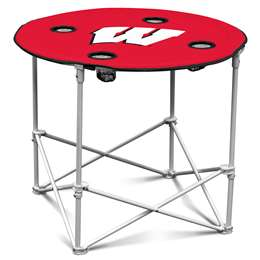 University of Wisconsin Badgers Round Folding Table with Carry Bag